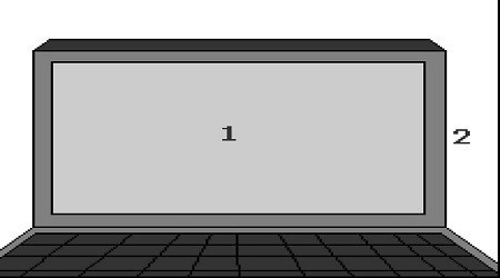 Scheme of the external parts of a TFT screen